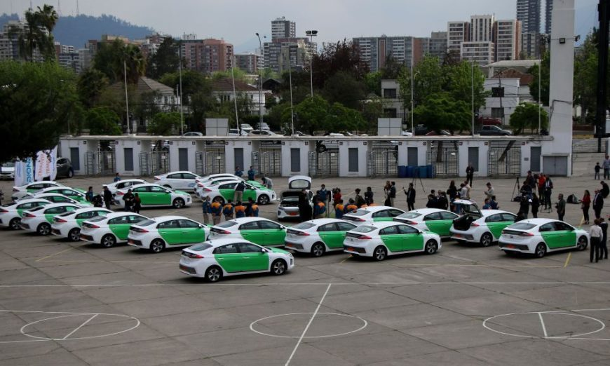 Electric taxis Chile Santiago Environment